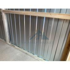 Бытовка металлическая 6х2.4м с усилением швеллера и без внутренней отделки.