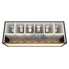 Бытовка сантехническая 6х2.4м с санузлом