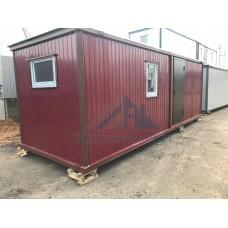 Бытовка дачная 7х2.4м вишневая с двумя комнатами