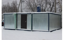 Модульное здание из 3-ех блок контейнеров-под офис выполнен!