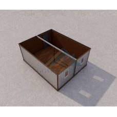 Модульное здание М-4 6х4,8 с туалетом и душем