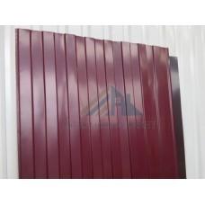 Профнастил С8  Pe 0,4 мм (эконом) RAL 3005 вишневый