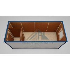Блок контейнер БК-02 6х2,4 «ЭКОНОМ» с тамбуром