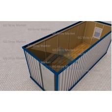 Блок контейнер под офис 6х2.4м.  НОВАЯ ТЕПЛАЯ.