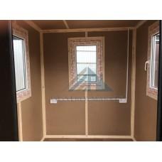 Пост охраны 2м с тремя окнами ПВХ