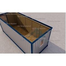 Блок контейнер Бк-01 металлический для проживания 6х2,4 м