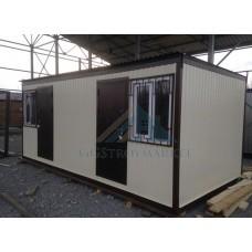 Бытовка модуль 6х2.4м  С цветным профнастилом