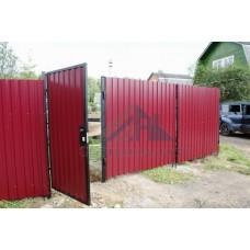 Забор из профнастила (профлиста)