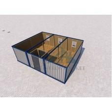 Модуль блок контейнер с тамбуром 6х7,2х2,36м.(скат 15-20см)