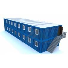 Модульное общежитие из блок-контейнеров для жилья рабочих