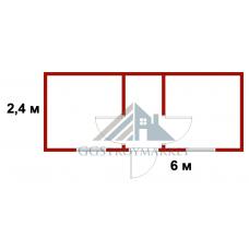 Блок-контейнер БК-03  6х2,4 «Распашонка» ЭКОНОМ