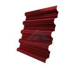 Профнастил Н75 Pe 0,8 мм RAL 3011 коричнево-красный