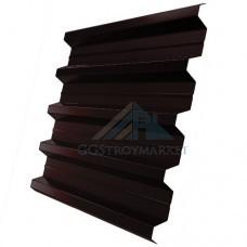 Профнастил Н60 Pe 0,8 мм RAL 8017 шоколадно-коричневый