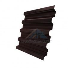 Профнастил Н75 Pe 0,8 мм RAL 8017 шоколадно-коричневый
