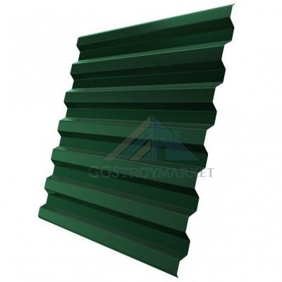 Профнастил С21  Pe 0,4 мм RAL 6005 зеленый мох