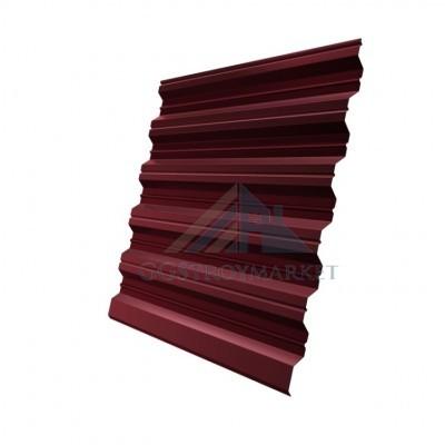Профнастил НС35  Pe 0,8 мм RAL 3005 винно-красный