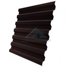 Профнастил С21 Pe 0,4 мм (эконом) RAL 8017 шоколадно-коричневый-2м.