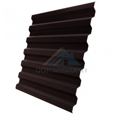 Профнастил С21 Grand Line Optima Pe 0,35 мм RAL 8017 шоколадно-коричневый