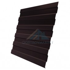 Профнастил C8  Pe 0,4 мм (эконом) RAL 8017 шоколадно-коричневый