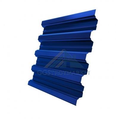 Профнастил Н75 Pe 0,8 мм RAL 5005 сигнальный синий