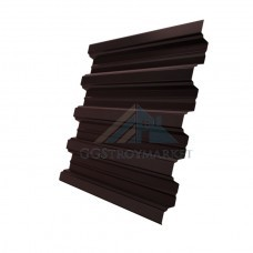 Профнастил Н75  Pe 0,7 мм RAL 8017 шоколадно-коричневый
