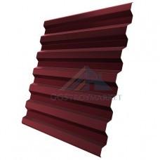 Профнастил С21  Pe 0,4 мм RAL 3005 винно-красный -2 метра.