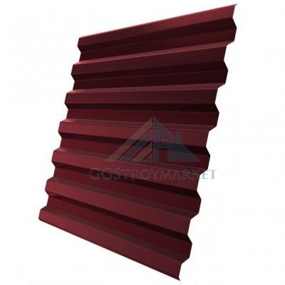 Профнастил С21 Pe 0,4 мм RAL 3005 винно-красный