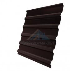 Двухстронний Профнастил С20 Pe 0,4мм RAL 8017 коричневый