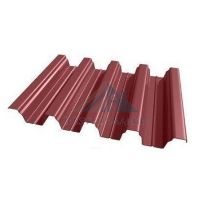 Профнастил Н75 Pe 0,7 мм RAL 3005 винно-красный