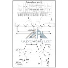 Профнастил Н60  Pe 0,7 мм RAL 7004 сигнальный серый